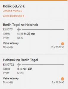 Helsinky z Berlína za 875 Kč