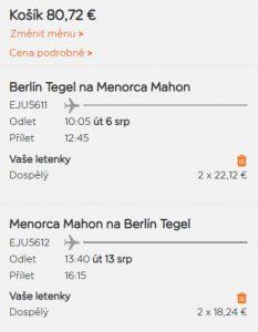 Srpnová Menorca z Berlína od 1 031 Kč