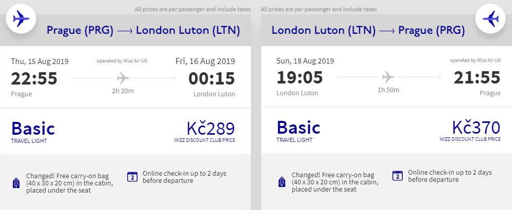Londýn na víkend z Prahy od 659 Kč
