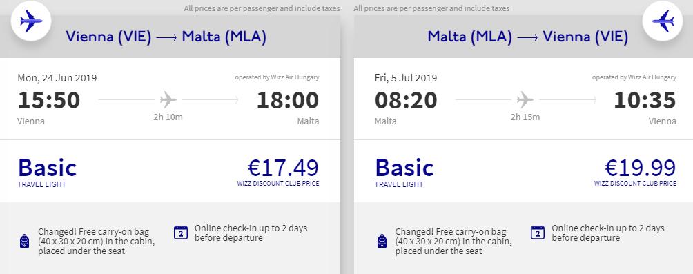 Malta na léto z Vídně od 982 Kč