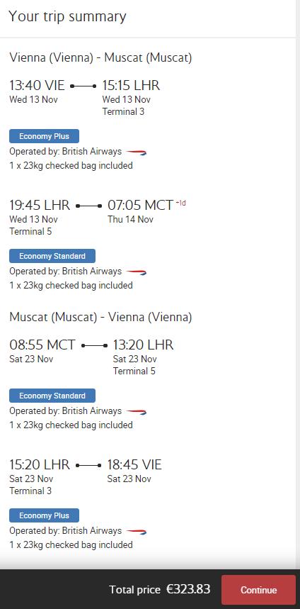 Omán - Muscat z Vídně za 8 294 Kč