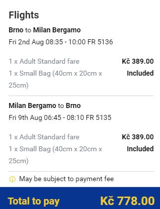 Prázdninová Itálie - Bergamo z Brna i Prahy od 778 Kč