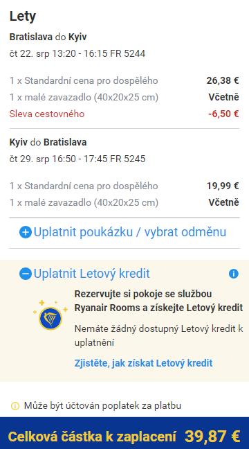 Prázdninový Kyjev z Bratislavy za 1 025 Kč