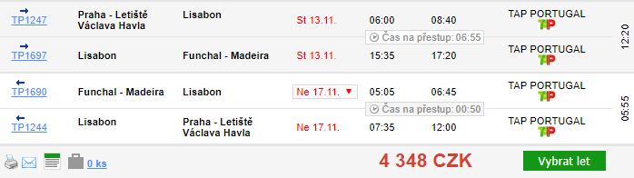 Madeira z Prahy & Vídně za 4 348 Kč