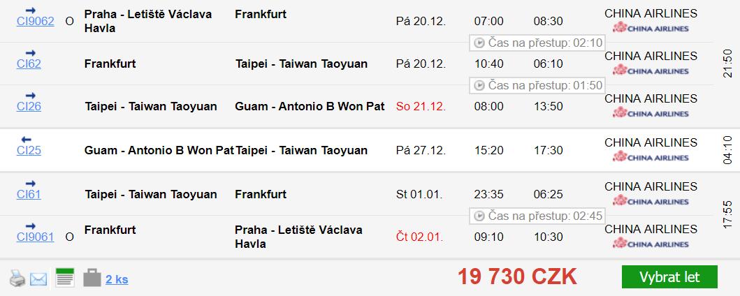 Guam z Prahy za 17 735 Kč
