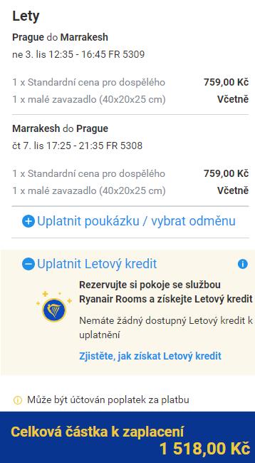 Maroko - Marrákeš z Prahy za 1 518 Kč