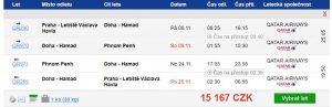 Kambodža z Prahy s Qatar Airways za 15 167 Kč