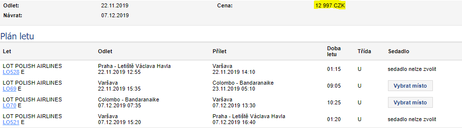 Srí Lanka z Prahy za 12 997 Kč