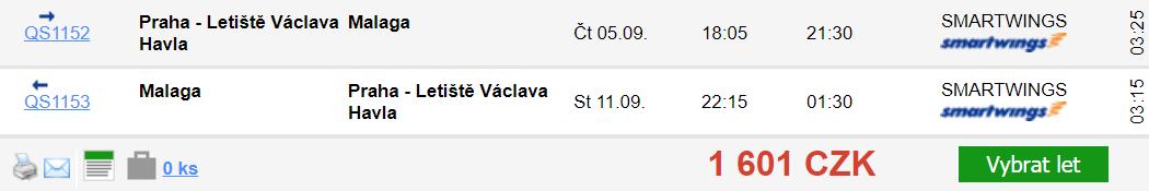 Málaga z Prahy za 1 601 Kč