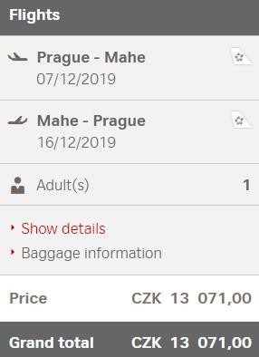 Seychely z Prahy za 13 071 Kč