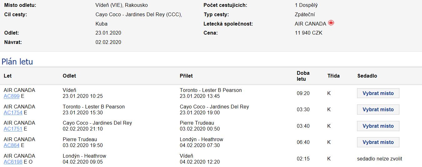 Kuba - Cayo Coco z Vídně a Prahy od 11 940 Kč