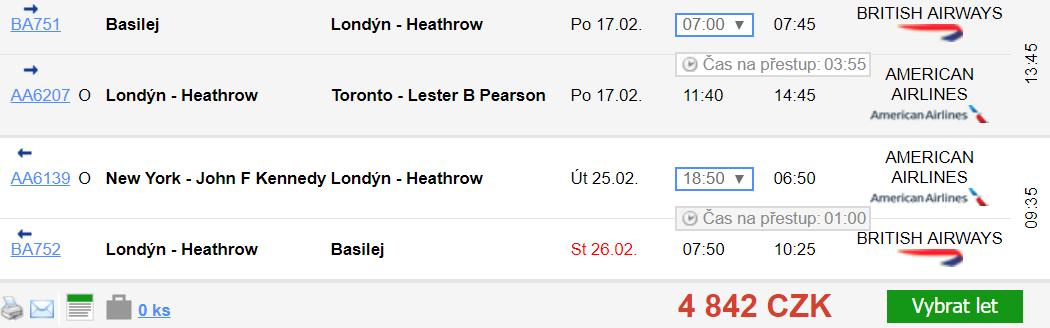 Kanada & USA + Basilej z Prahy od 5 905 Kč