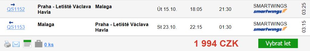 Španělsko - Málaga z Prahy za 1 994 Kč