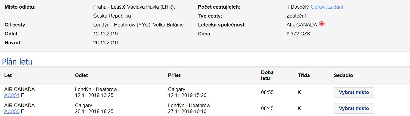 Kanada - Calgary z Prahy za 10 686 Kč
