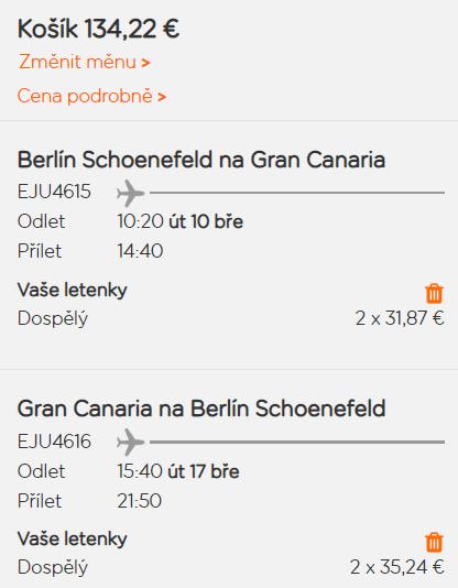 Kanárské ostrovy - Gran Canaria z Berlína za 1 730 Kč