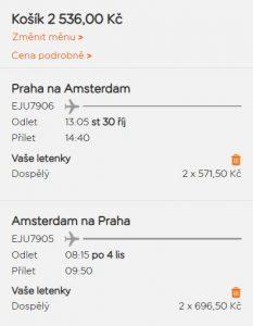 Prodloužený víkend v Amsterdamu z Prahy od 1 268 Kč