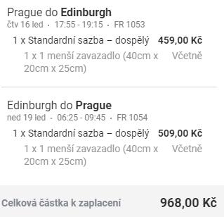 Skotsko - Edinburgh z Prahy na prodloužený víkend za 968 Kč