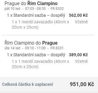 Řím z Prahy na prodloužený víkend za 951 Kč