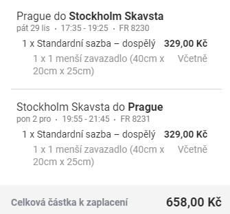 Stockholm z Prahy na prodloužený víkend za 658 Kč