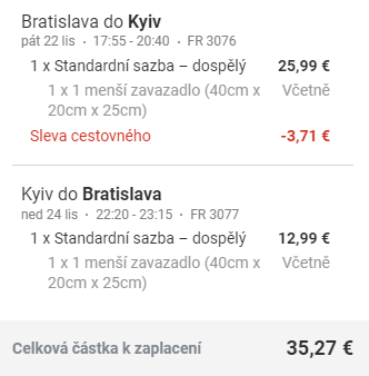 Ukrajina - víkendový Kyjev z Bratislavy za 912 Kč