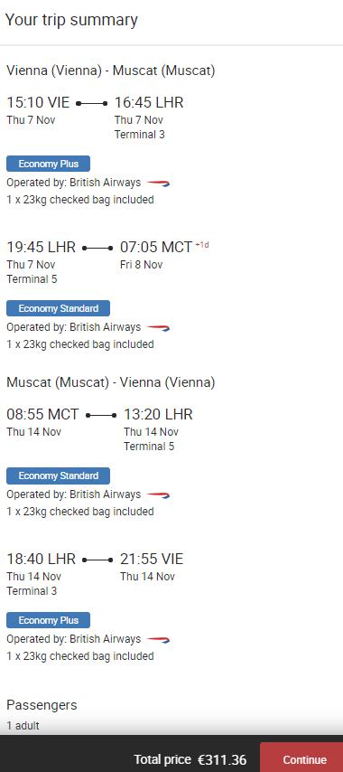 Omán - Muscat z Vídně za 8 049 Kč