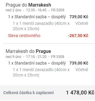Maroko - Marrákeš z Prahy za 1 478 Kč