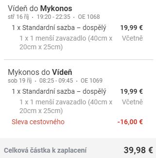 Řecko - Mykonos z Vídně za 1 034 Kč