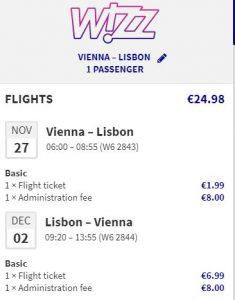Lisabon z Vídně od 646 Kč