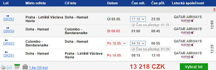 Srí Lanka z Prahy s Qatar Airways za 13 218 Kč