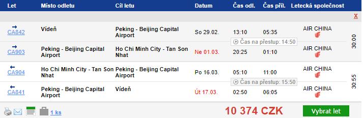 Vietnam – Ho Či Minovo Město z Vídně za 10 374 Kč
