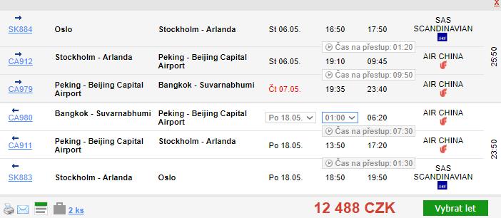 Business class: Thajsko z Osla za 12 488 Kč