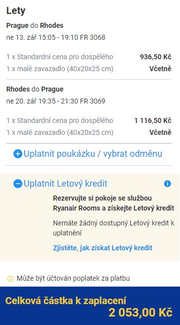 Řecko - Rhodos v létě z Prahy za 2 053 Kč