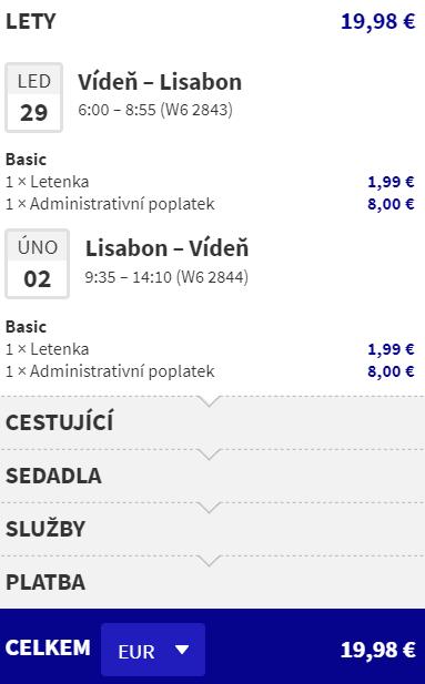 Portugalsko - Lisabon z Vídně za 511 Kč