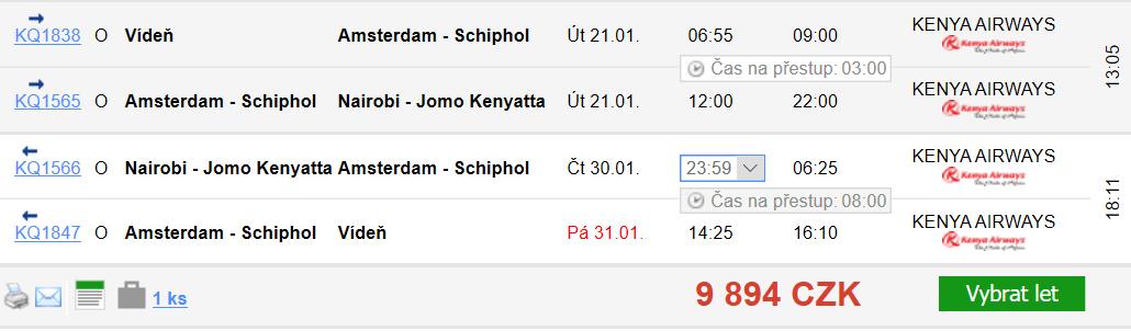 Keňa - Nairobi z Vídně za 9 894 Kč
