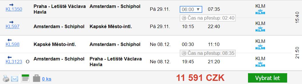 JAR - Kapské Město z Prahy za 10 058 Kč