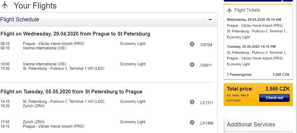 Rusko - Petrohrad z Prahy za 3 566 Kč