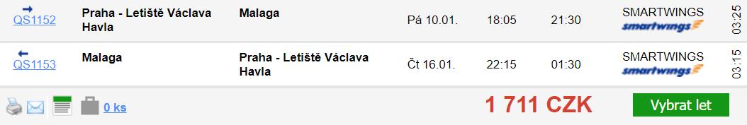 Španělsko - Málaga z Prahy za 1 711 Kč