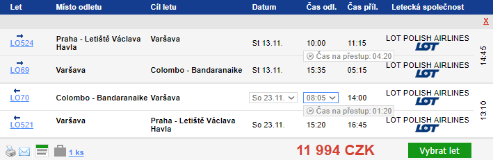 Srí Lanka – Colombo z Prahy za 11 994 Kč