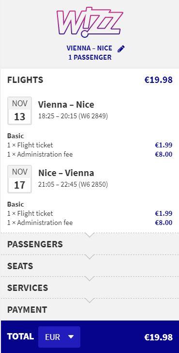 Francie - Nice z Vídně za 516 Kč