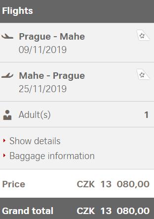 Seychely z Prahy za 13 080 Kč