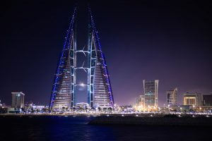Hotel při přestupu v Bahrainu