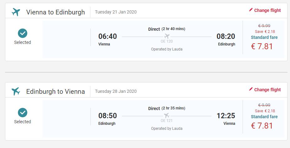 Letenky z Vídně – Řím, Skotsko, Skandinávie a další od 399 Kč