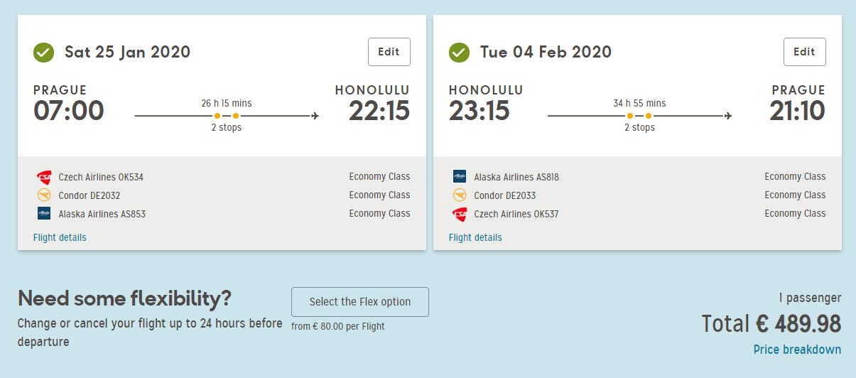 Havaj – Honolulu z Prahy za 12 478 Kč