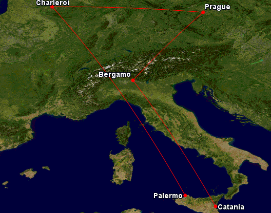 Milán + Sicílie + Brusel z Prahy
