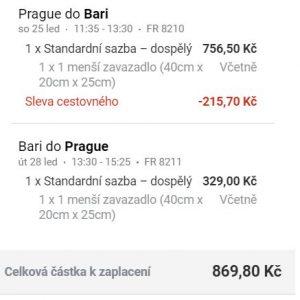 Itálie – lednové Bari z Prahy za 869 Kč