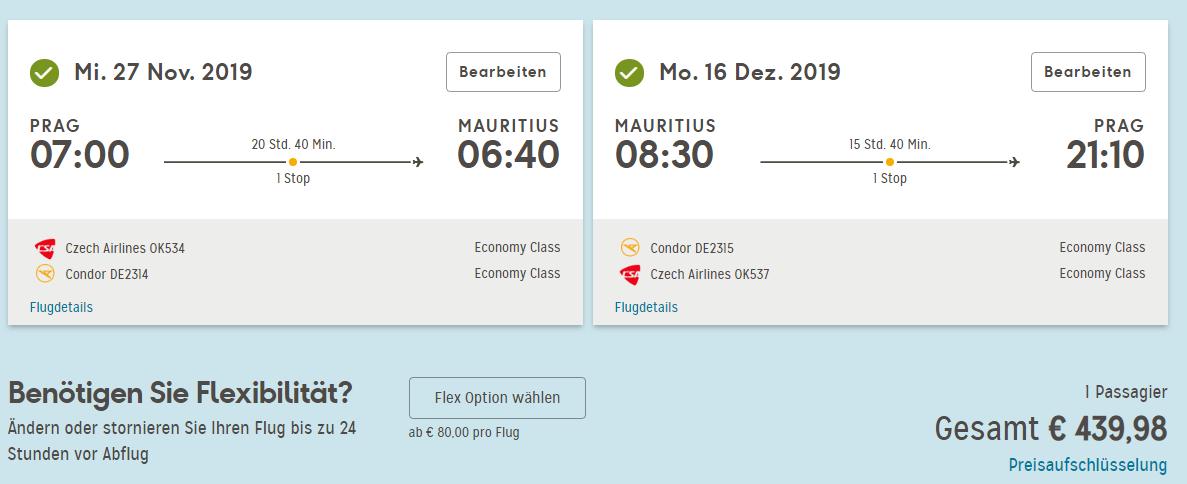 Mauricius z Prahy ke konci roku od 11 260 Kč