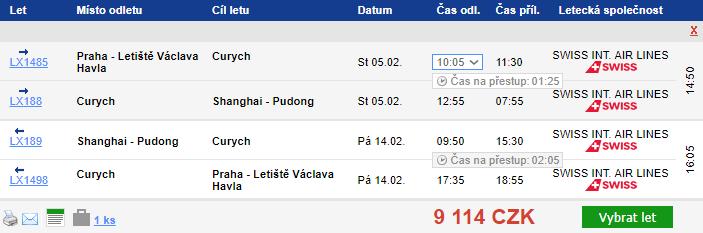 Čína – Peking a Šanghaj z Prahy za 9 114 Kč