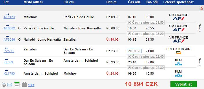 Zanzibar z Mnichova za 10 894 Kč