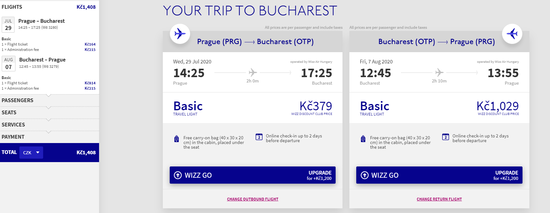 Bukurešť nově z Prahy - 1408 Kč
