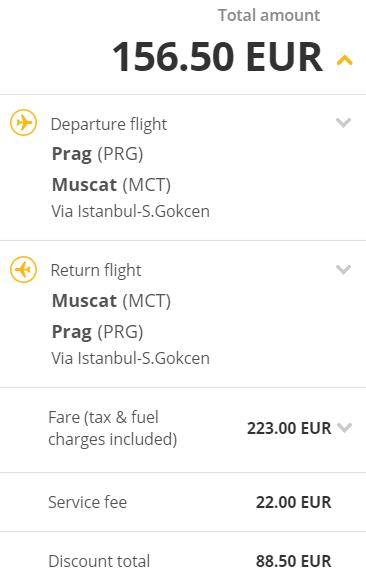 Pegasus naděluje: Írán, Kuvajt, Omán atd. z Prahy